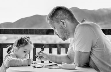 Girl Father Portrait Family Fatherhood Parent