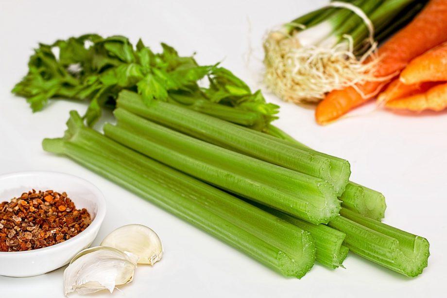 Soup Greens Celery Vegetables Food Healthy Diet